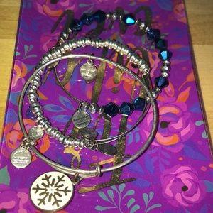 three alex and ani bracelets (winter set)